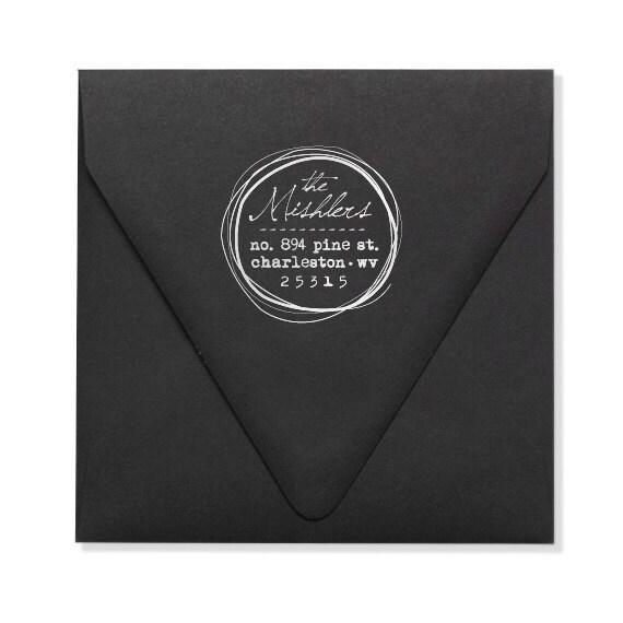 Personalized Address Stamp - Custom Address Stamp - Hand Drawn - Original Design - Housewarming - DIY Printing - Weddings - Personal Gifts