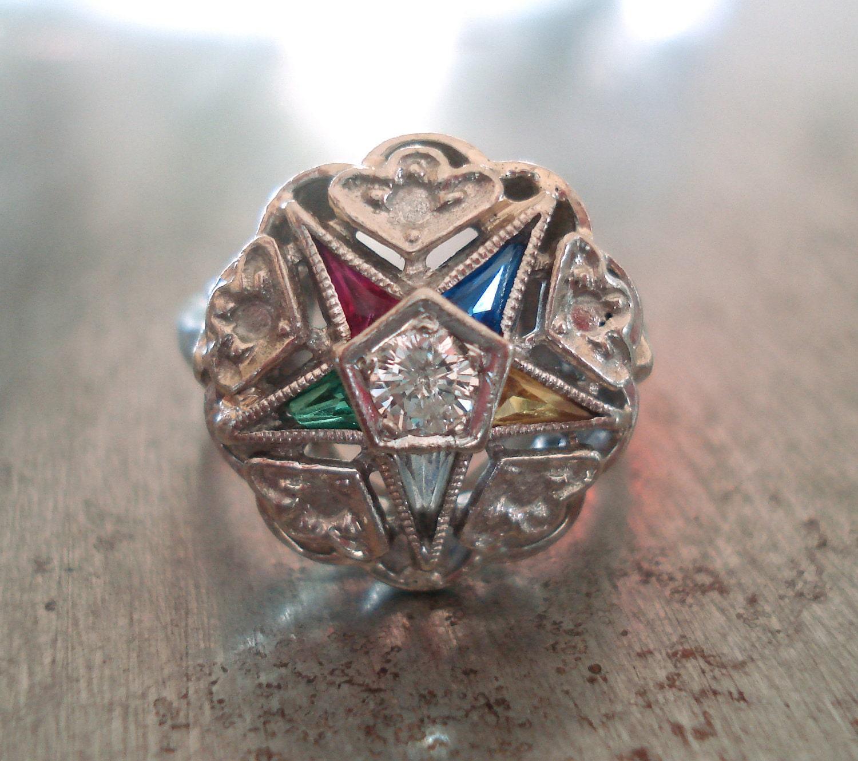 Vintage Eastern Star Rings 49