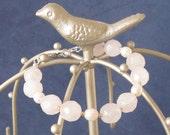 Fertility Bracelet, Pearls and Rose Quartz Bracelet, Boho Romantic Weddings Bracelet Bridesmaids Birthstone Gold Sterling Pearls Bracelet