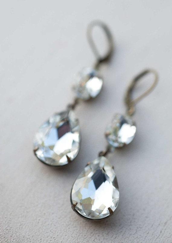 Vintage Bride, Vintage Bridal Jewelry - Vintage Earrings - Estate Style Jewelry - Victorian charm