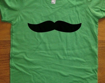 Mustache Shirt - 7 Colors Available - Kids Tshirt Sizes 2T, 4T, 6, 8, 10, 12 - Gift Friendly