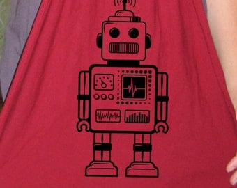 Robot Scarf - Mens Scarf or Womens Scarf - Retro Robot Geek - 2 Colors Available - Gift Friendly