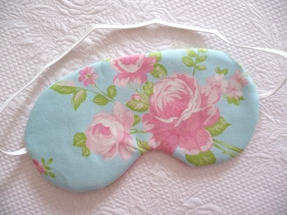 Shabby Chic Pink Rose Sleep mask. Eye mask.