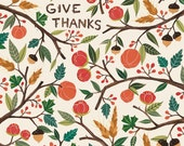 Give Thanks (Welcome fall) 8x11 print