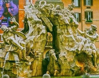 Rome Photography -Piazza Navona Fountain  -Italy Wall Art Photos - Travel Photography -Traveler Gifts