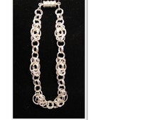 Silver Chain Maile Bracelet  by Terriann's Originals