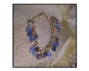 Blue & Gold Bauble Bracelet