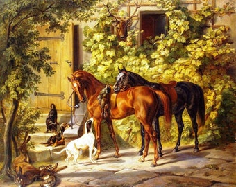 Two Horses - Cross stitch pattern pdf format