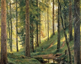 Cross stitch pattern pdf format - A Stream in the Woods