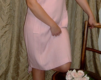 Vintage Pretty in Pink Dress by Julian Taylor of New York..80's
