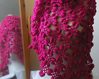 Peanut Flower Crochet Shawl PDF Pattern
