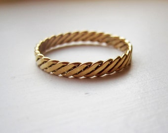14k Gold Filled Milled Band Ring