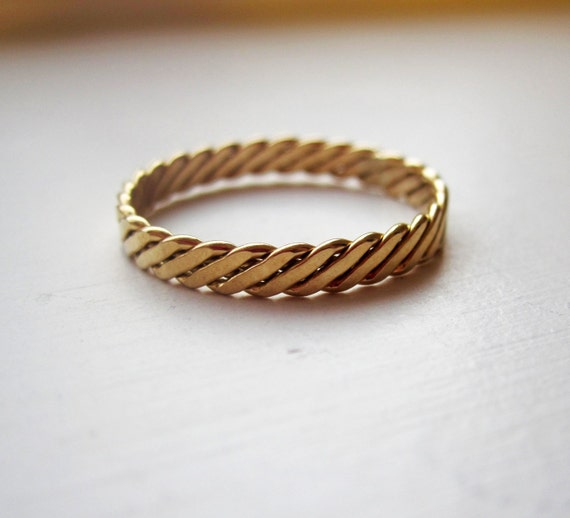 14k Gold Filled Milled Band Ring