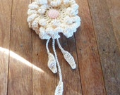 Flower Crochet Pattern PDF Peony or Sunflower Crochet PDF - hair brooch, hat embellishment, shawl pin, accessory - Easy - Instant DOWNLOAD