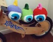 Ball Crochet Pattern Amigurumi Monster  - PDF Halloween - eyeball scary crochet toy - Instant DOWNLOAD