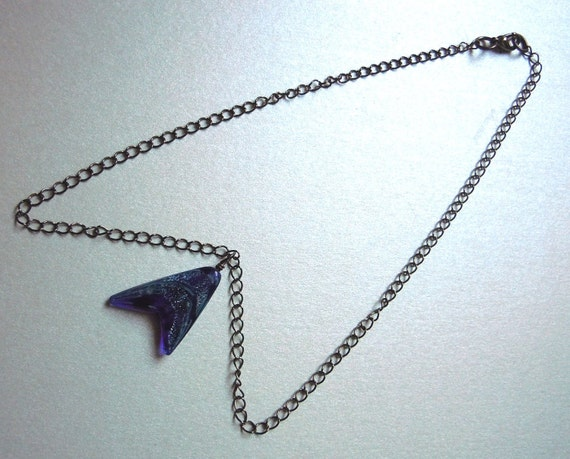 Star Trek Live Long And Prosper Dichroic Glass Trekkie Necklace -Free Shipping-