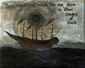 Your Crow's Nest - small acrylic ship painting from Trance Scripts collection