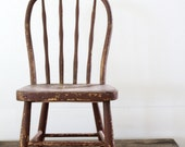Antique Wood Spindle Chair // Painted Wood Chair
