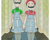"""Mario Brothers Vs The Shinning Parody """"Come Play With Us..forever, and ever and ever."""""""