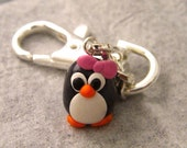 Cutest Penguin in Pink Keychain