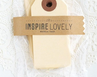 As seen in Country Living - 20 Mini Gift Tags -  Manila blank tags