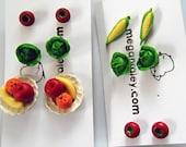 Tomato or Fruit stud earrings