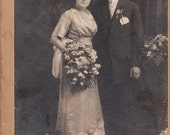 Young Newly Weds- Victorian Wedding- 1800s Vintage Cabinet Photograph