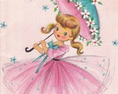 Hello There- Thinking of You- 1950s Vintage Hallmark Card- Used