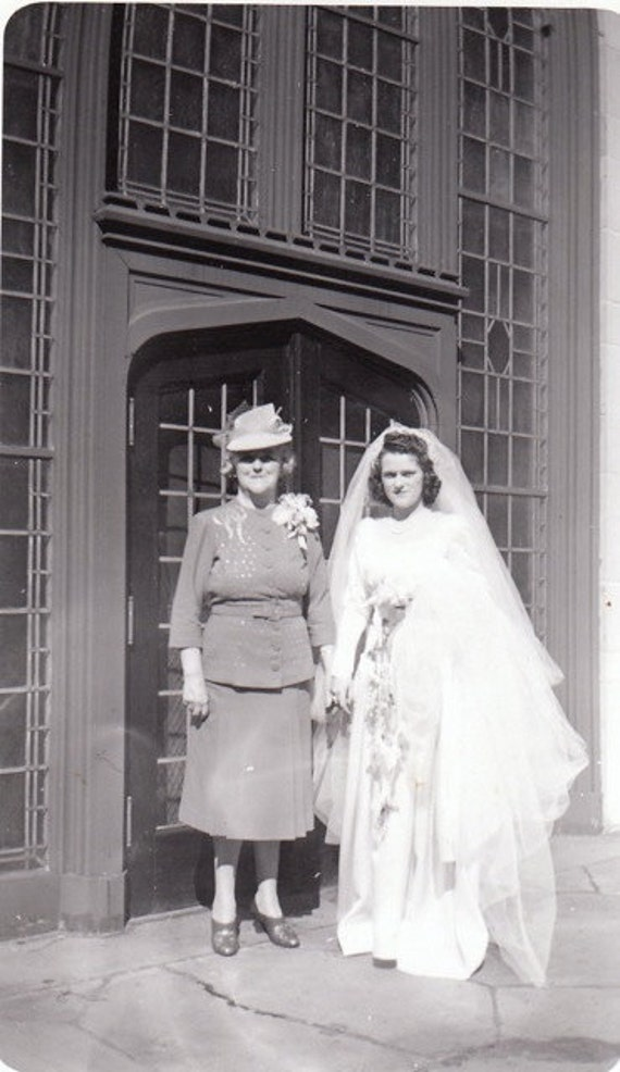 Mother of the Bride- Wedding Day- 1940s Vintage Photograph- Snapshot