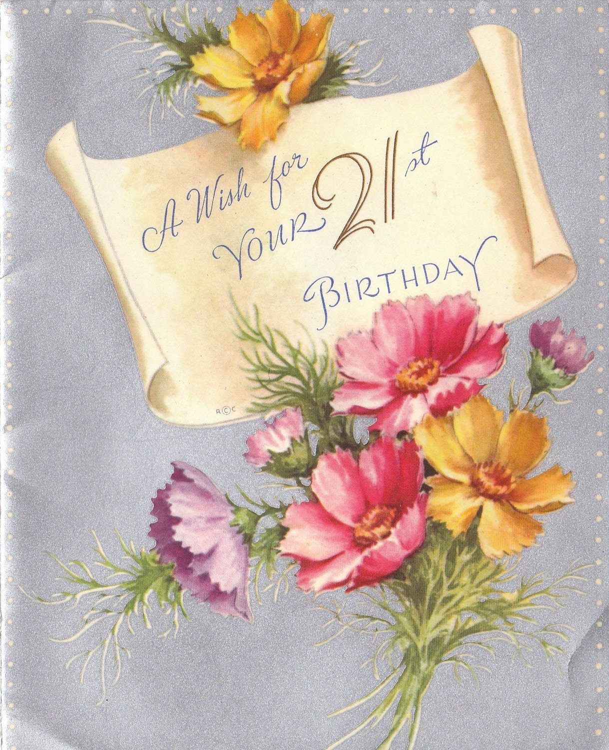 Items Similar To A Wish For Your 21st Birthday- 1940s