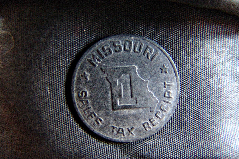 Missouri Sales Tax Receipt Token 1940s Vintage Coin