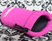 Neoprene lens case - hot pink
