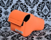 DSLR Camera Case - Bright Orange / Black neoprene