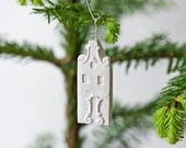 amsterdam ornament - pure white unglazed porcelain holiday ornament modern designer dutch holland - POAST