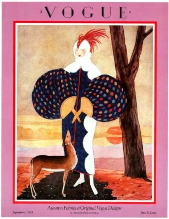 Vogue Magazine Cover Vintage Poster September 1 1924