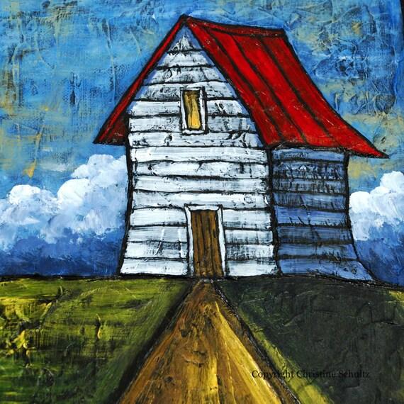 Landscape Painting Fine Art Diptych on Canvas Original