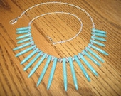 Turquoise Magnesite Bali Sterling Hill Tribe Silver Necklace Gorgeous Unique and Simply Divine