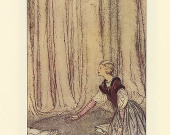 The Frog Prince And Princess, Santa and Fairy Elves, Arthur Rackham, Printed In America, Antique Children Print