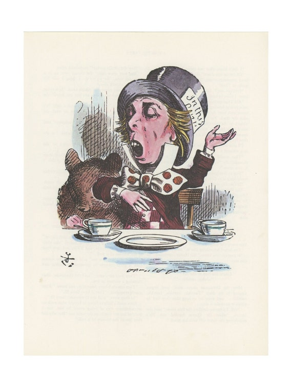 alice and the mad hatter litho graphic printing