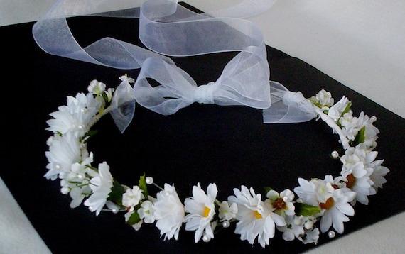 Halo Wedding Flower Crown Hair Wreath Accessories Daisy Bridal