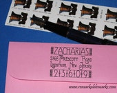 Custom Personalized Classic Craftsman or Mission Style Inspired Return Address Small Size Self Inking Address Stamp or Standard Hand Stamp
