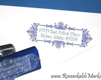 Art Deco Monogram Return Address Label Personalized Rubber Address ...