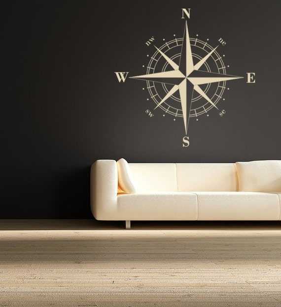 Compass Decals Compass Rose Nautical Vinyl Wall Decal Great