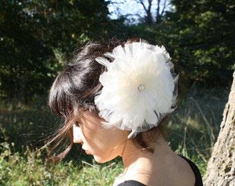 feather flower fascinator