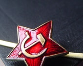 Russian Soviet Red Army Star - Hat Badge - Hat Pin - Mens Gift
