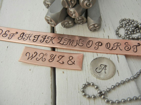 6mm Uppercase Monogram Font Letter Punch Set Alphabet Stamps