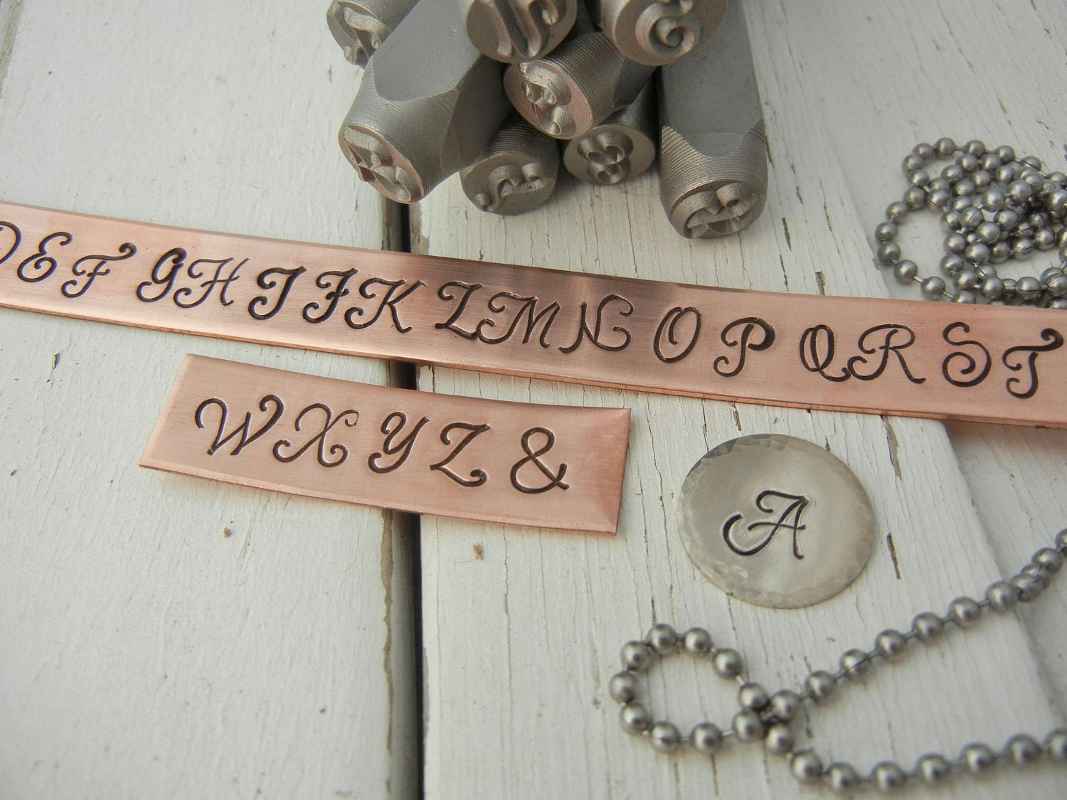 6mm uppercase monogram font letter punch set alphabet stamps for Metal letter stamps for jewelry