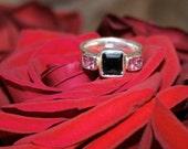 Shining Pink And Green Three StoneTourmaline Ring