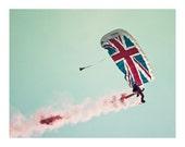 Union Jack Parachute Photographic Print