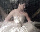 Ballerina Art Photograph Dreamy Surreal Dancer White Dress Vintage Corsette 8x12 Wall Decor fine art photograph